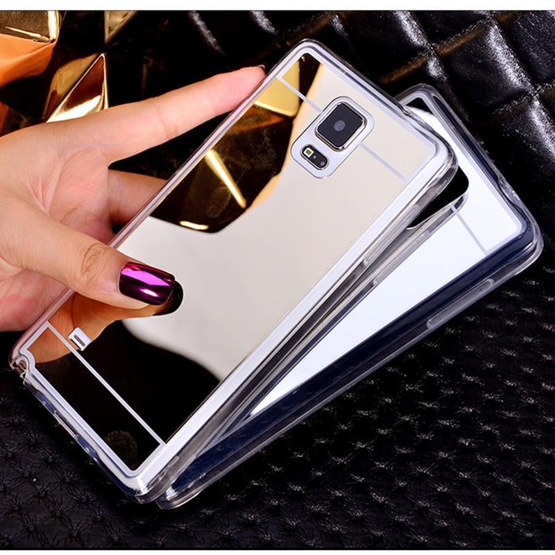 Задня кришка дзеркала м'яка ТПУ для Samsung Galaxy J1 J5 J7 A3 A5 2017 J3 2016 S9 Plus S3 S4 S5 S6 Edge Grand Prime Case Case