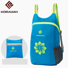 City Jogging Bags For Men's 18L Ultra-light Foldable Polyester Waterproof Quick-drying Women's Backpack Sports Hiking Bags