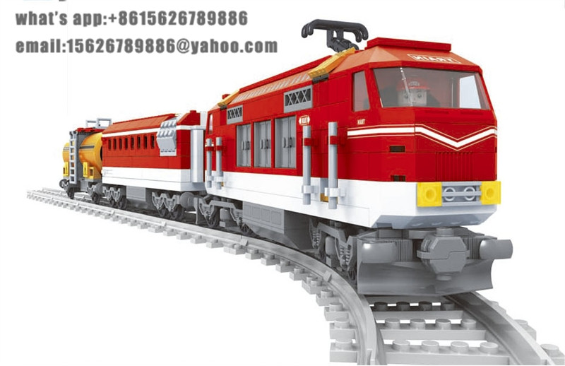 Ausini model building kits compatible with lego city train 426 3D blocks Educational model & building toys hobbies for children ausini model building kits compatible city train 426 3d blocks educational model