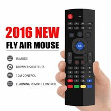 AKASO Factory Direct price MX3 2.4GHz 6 in 1 function Wireless Full keyboard Fly Air Mouse Remote For Android Smart TV BOX Kodi