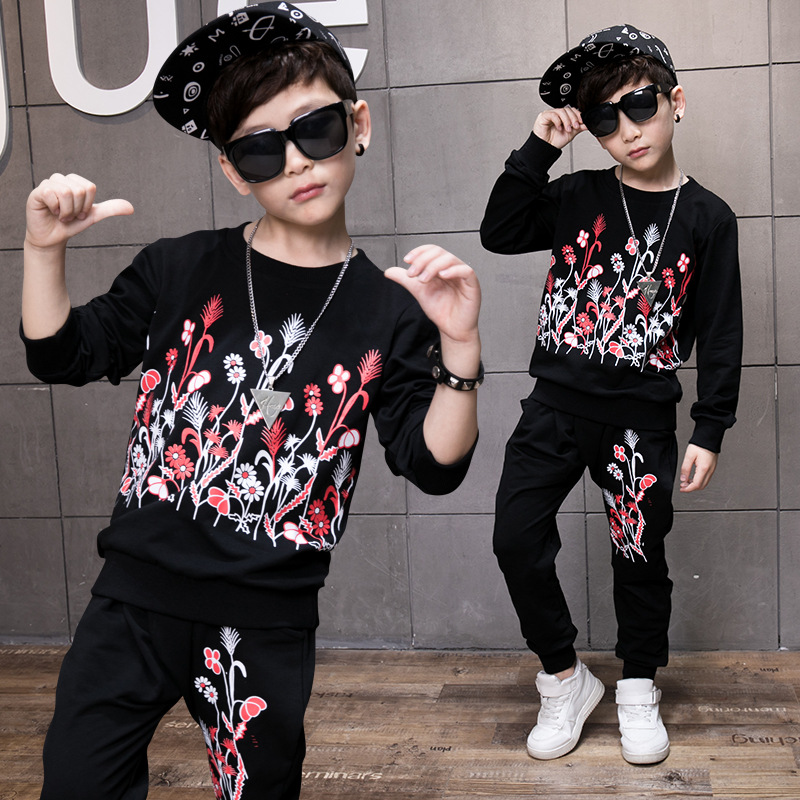 2017 New Children Kids Boys Clothing Sets Autumn Boys Clothes Set Sports Suits Children Clothing Sets Sweatshirts + Pants 13 14 spring autumn children s clothing suits kids sweatshirts pants children sports suit boys clothes set retail toddler leisure