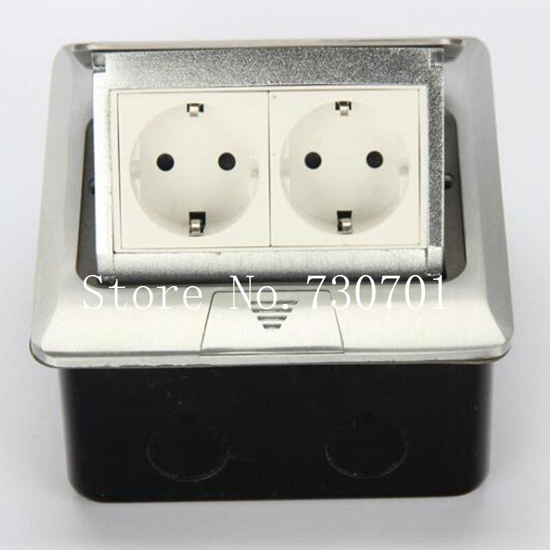 Fabricant tout en aluminium panneau EU Standard Pop Up prise de sol 2 voies prise électrique modulaire combinaison personnalisée disponible
