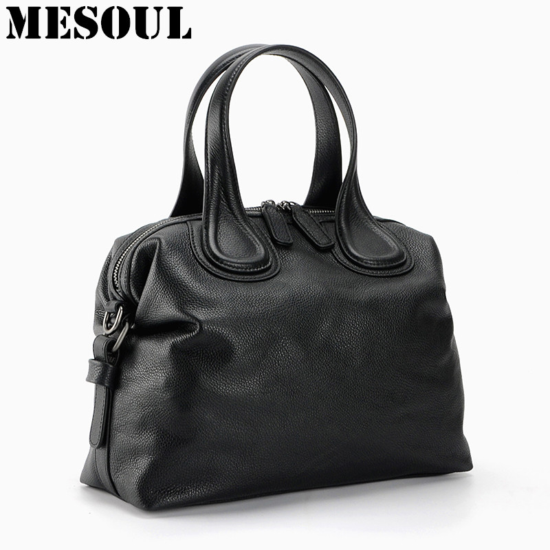 Women's Handbags Soft Genuine Cow Leather Shoulder Bags For Ladies Crossbody Bag Fashion High Quality Female Purses Tote Satchel zency new women genuine leather shoulder bag female long strap crossbody messenger tote bags handbags ladies satchel for girls