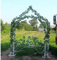 European arch frame iron arch rattan fancy frame wedding background forest series wedding props.