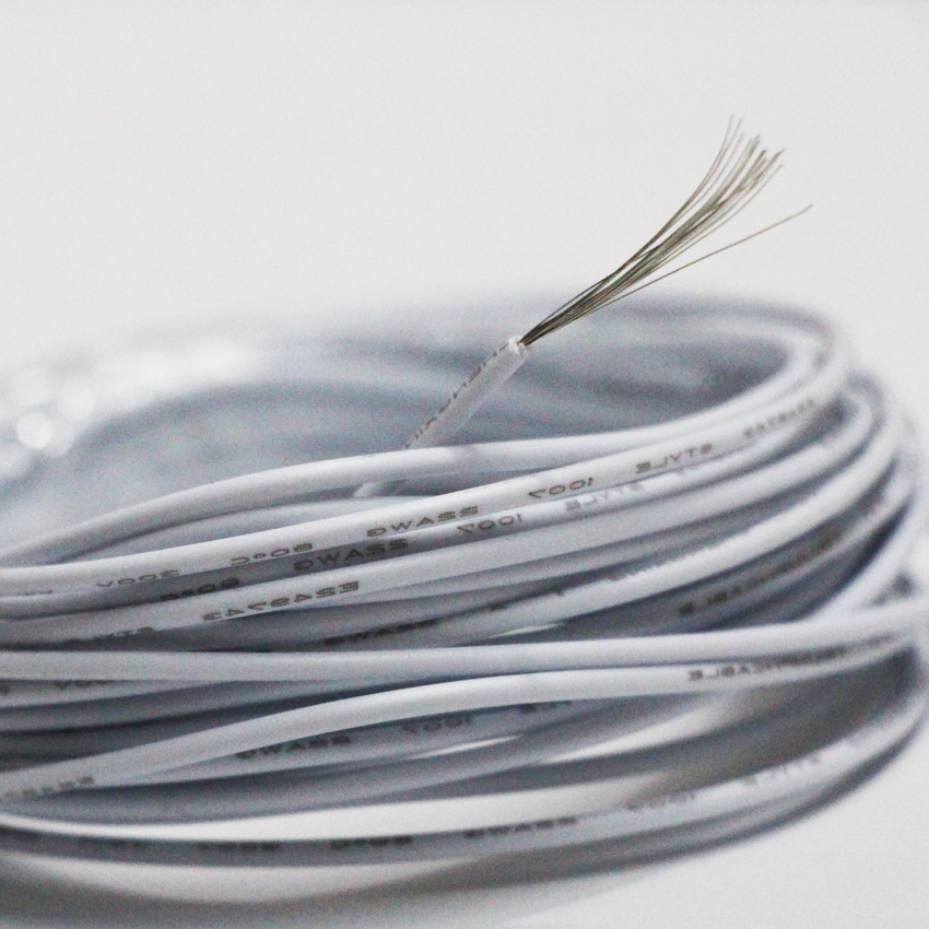 Tinned Copper 22awg White Cable Ul1007 White Pvc