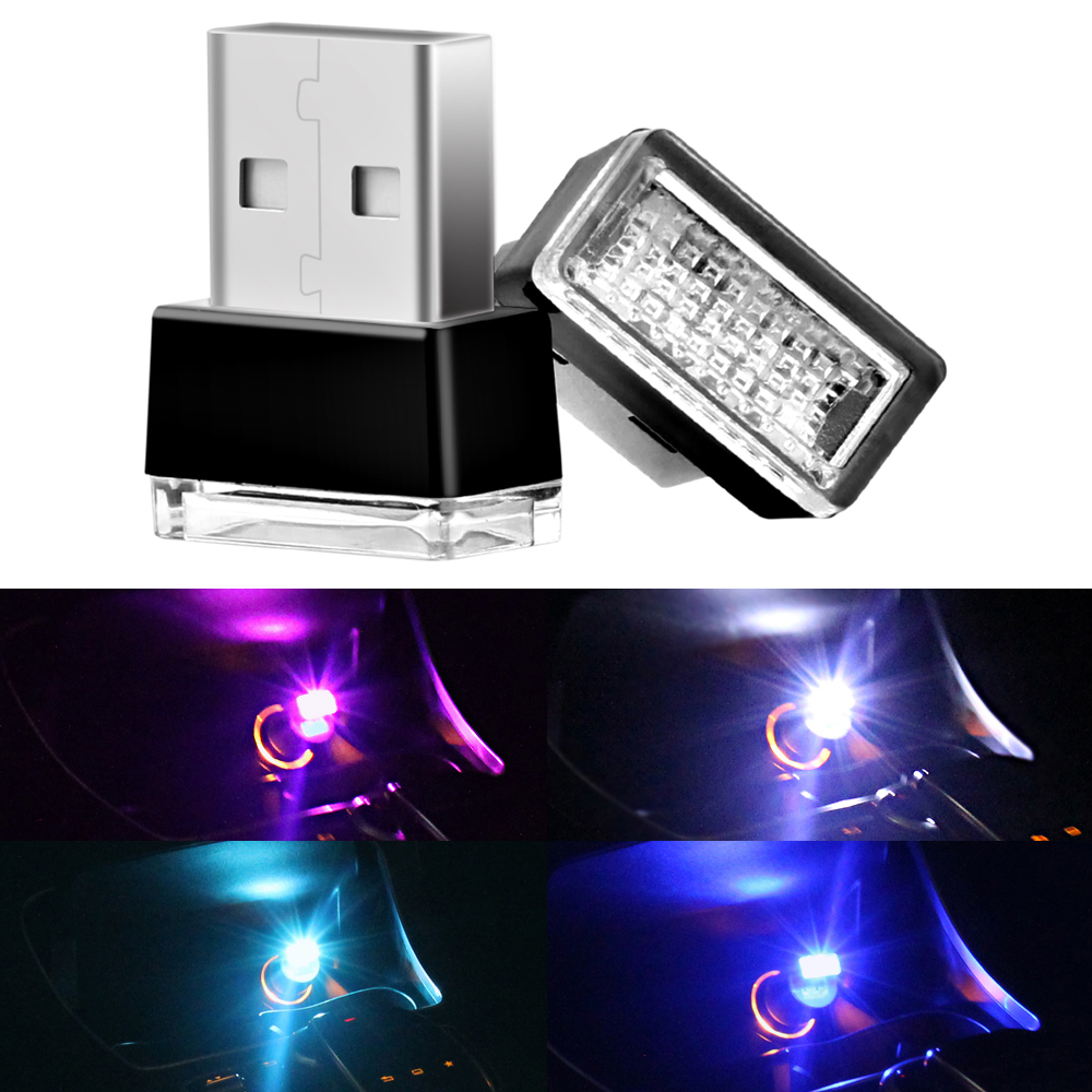 1-piece-car-usb-led-atmosphere-lights-decorative-lamp-emergency-lighting-universal-pc-portable-plug-and-play-blue-white-ice-blue