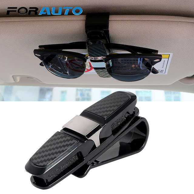 Car Sun Visor Sunglasses Holder Eyeglasses Clip Fastener Cip Ticket Card Clamp Car Glasses Cases ABS Portable Auto Accessories
