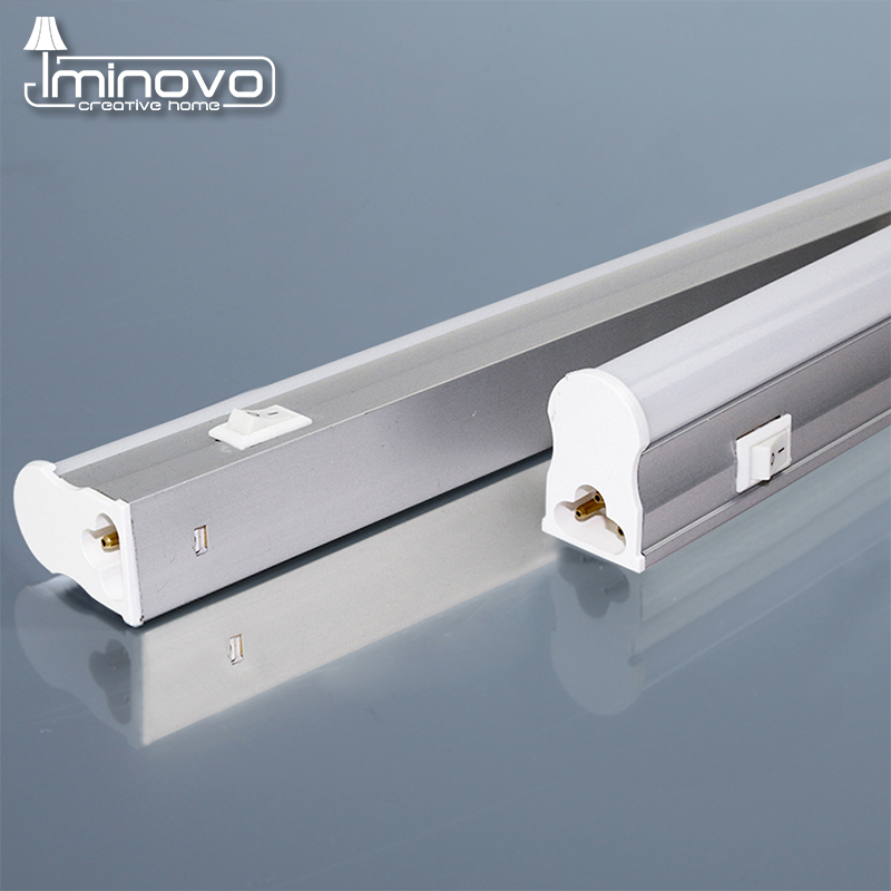 IMINOVO LED Fluorescent Tube T5 Light Integrated Wall lamp 30CM/1FT 6W Milky cover Warm/Cold white For kitchen AC 110V-220V brightinwd 110v 220v s14s s14d led light linestra integrated tube strip lamp mirror wall light powerful 3w 6w 10w 15w tube light