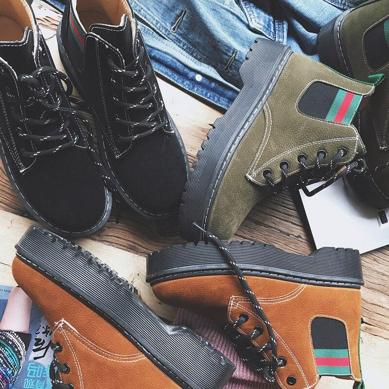 New Fashion Chamois Surface Warm Winter Ladies Mosaic Martin Boots Leisure Retro Women Leisure Shoelace Up Travel Shoes camel winter women boots 2015 new shoes retro elegance sheepskin fashion casual ladies boots warm women s boots a53827612