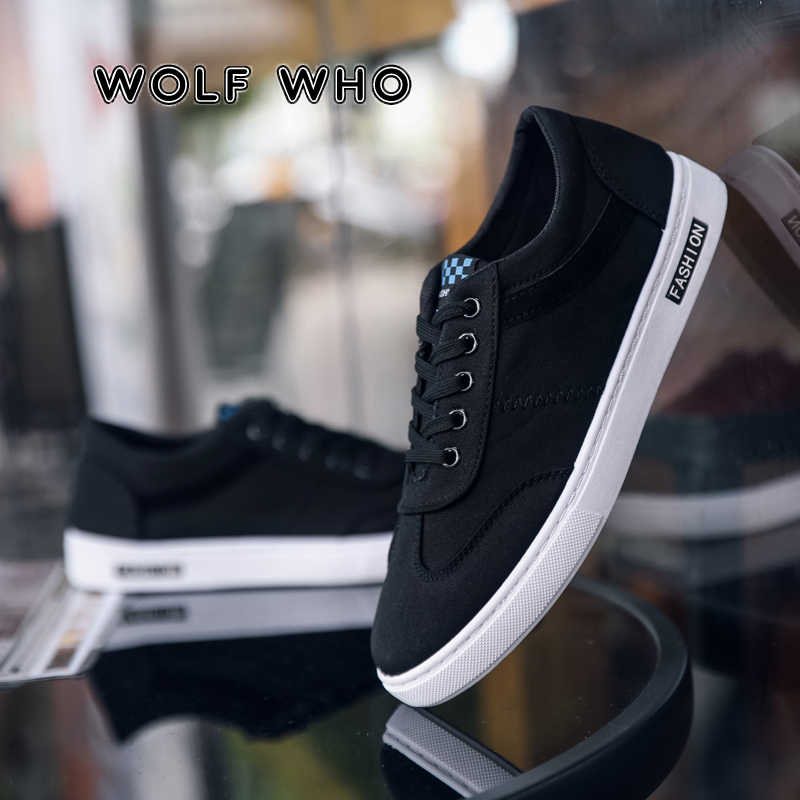 LUPO CHE 2020 Uomini Casual Scarpe di Tela Moda Scarpe Da Ginnastica di colore Solido Scarpe Da Ginnastica Maschile Appartamenti di Scarpe Chaussures pour hommes X-089