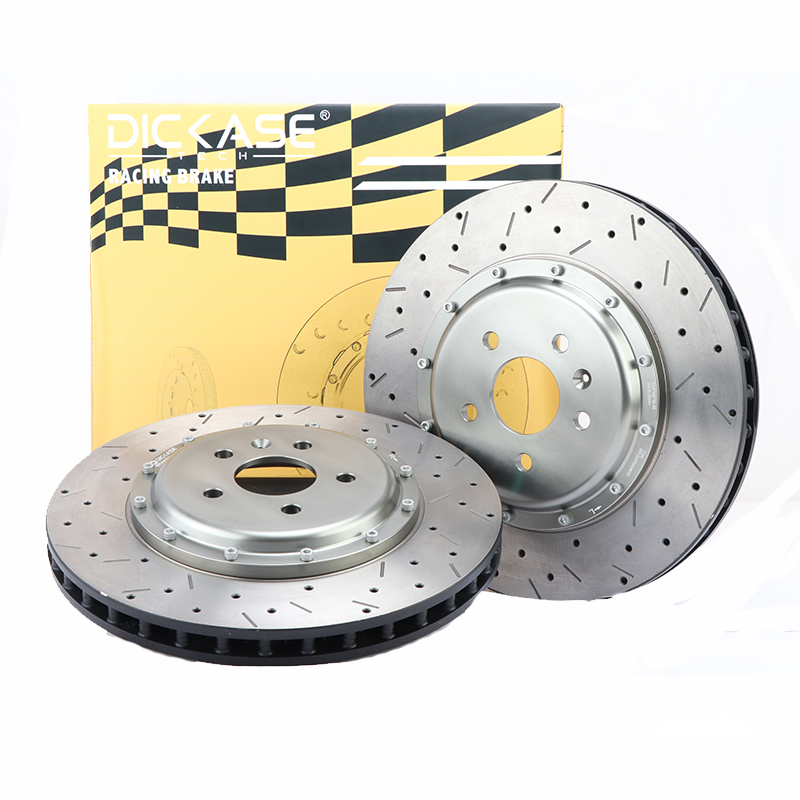 DICASE Auto part XS brake disc 330mm*28 for racing cp7600 red brake caliper fit for Alfa Romeo GT.TS 17 RIM