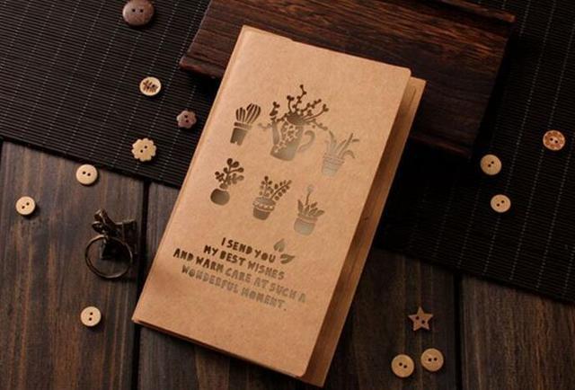 Greeting cards paper invitation vintage khaki for birthday wedding greeting cards paper invitation vintage khaki for birthday wedding party decoration gift candy box craft diy m4hsunfo