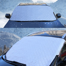 Car Snow Proof Half Cover Sunscreen Frost Proof Snow Thickening Auto Front Cover Sunblind For Auto Car Curtains  Car Styling