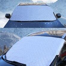 Neve Auto a Prova di Copertura Mezza Protezione Solare Gelo A Prova di Neve Ispessimento Auto Anteriore Della Copertura Frangisole Per Auto Auto Tende car Styling