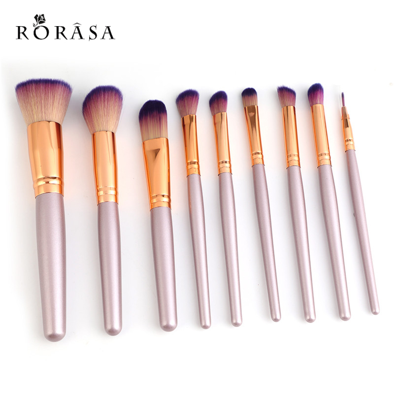 9Pcs Professional Makeup Brushes Set Beauty Cosmetic maquiagem Eyeshadow Lip Powder Face Pinceis Tools Kabuki Kwasten Brush Kits 24 pcs professional makeup brushes beauty woman s kabuki cosmetic makeup brush set tools foundation brush pincel de maquiagem