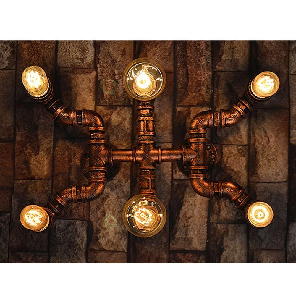 Moderne retro art loft industrie wand lampen led lampen e27 edison wandleuchten kreative kunst 6