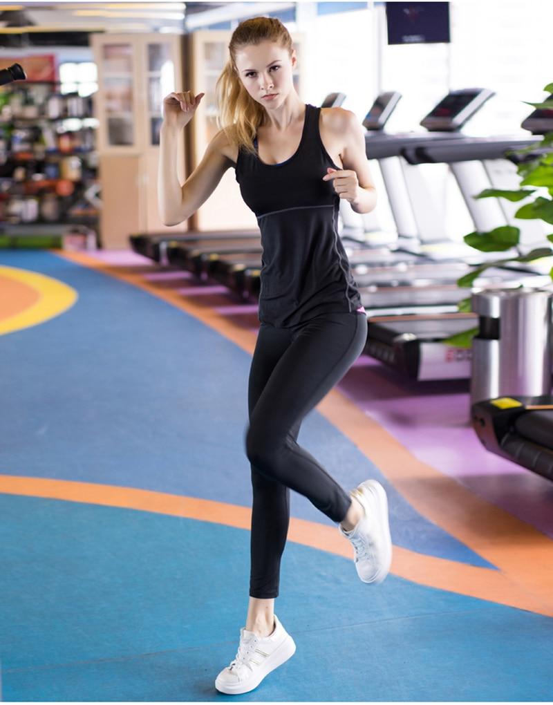 Women's Yoga Tops Sexy Gym Sportswear 13