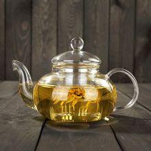600 мл нагревательный чайник большой емкости чайник термостойкая стеклянная чашка фильтр из нержавеющей стали Ароматизированный Чай индукционный чайник
