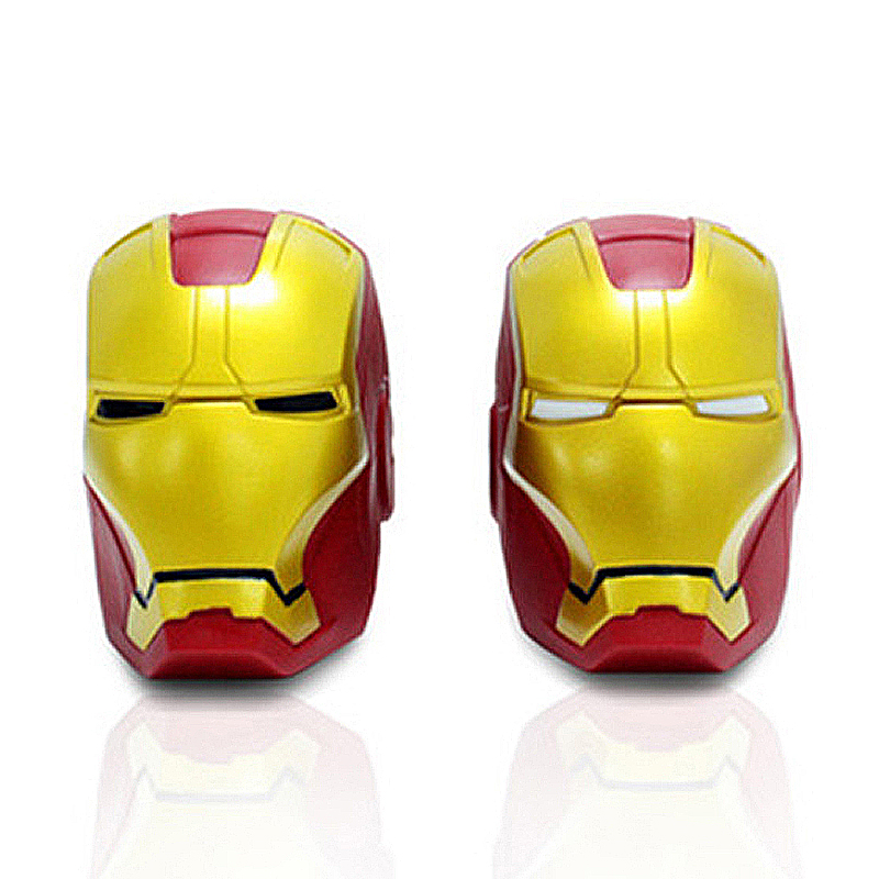 Marv Super Hero Avengers Iron Man Cute Coin Bank Black White Eyes Piggy Bank Money Saving Box Money box Figure Box Toy 14*10cm