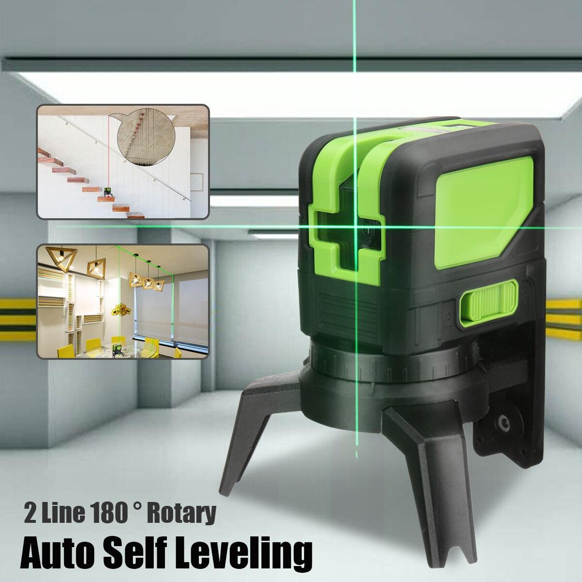 купить Mini 360 rotation 2 Lines Laser Level Auto Self Leveling Vertical and Green Beam Cross Lights Level Meter Tools по цене 4493.95 рублей