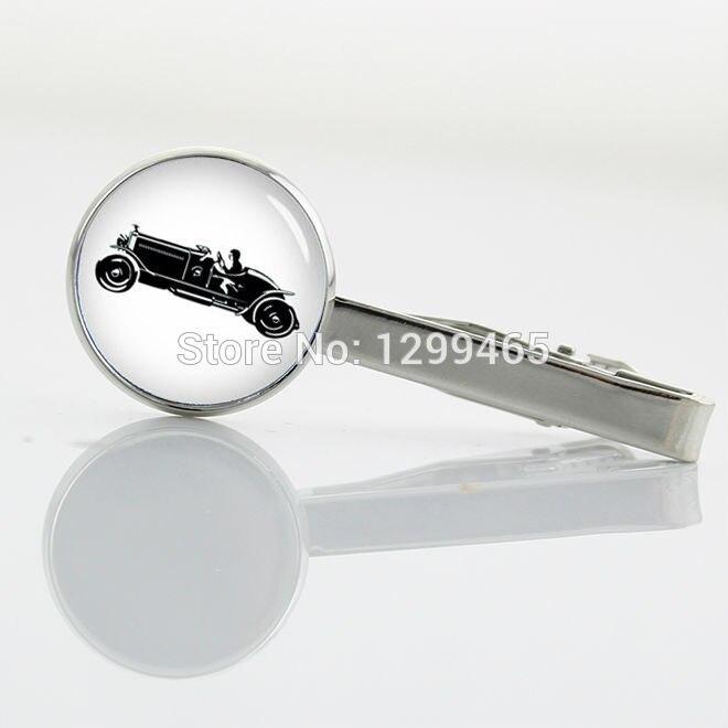 Promotion black car Silver plated Tie Clip Exquisite vintage cars Necktie Tie Bar Novelty Interesting bubble car Tie pin T 641