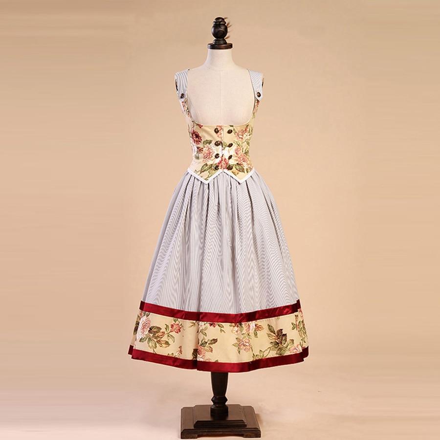 High Quality Spring Summer Women Vintage Cotton Office Dress Female Victoria Dress Stripe Vest Strapless Sundress
