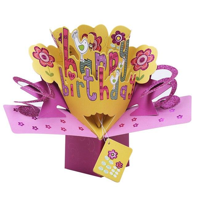Pop Up Cartão de feliz Aniversário Do Bebê obrigado cartões Cartões
