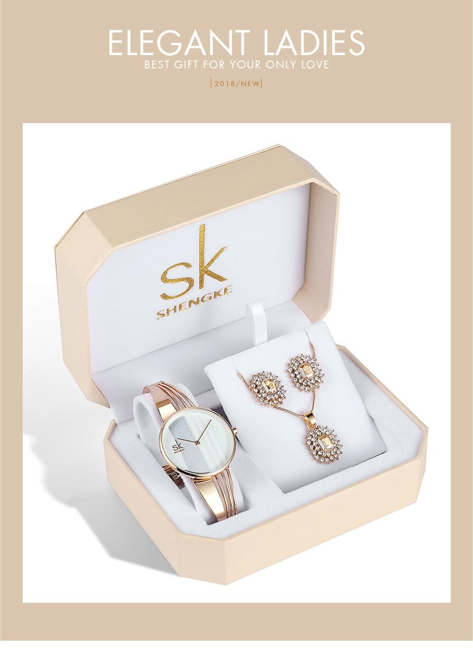_01 Montres cristal bijoux ensemble pour femmes
