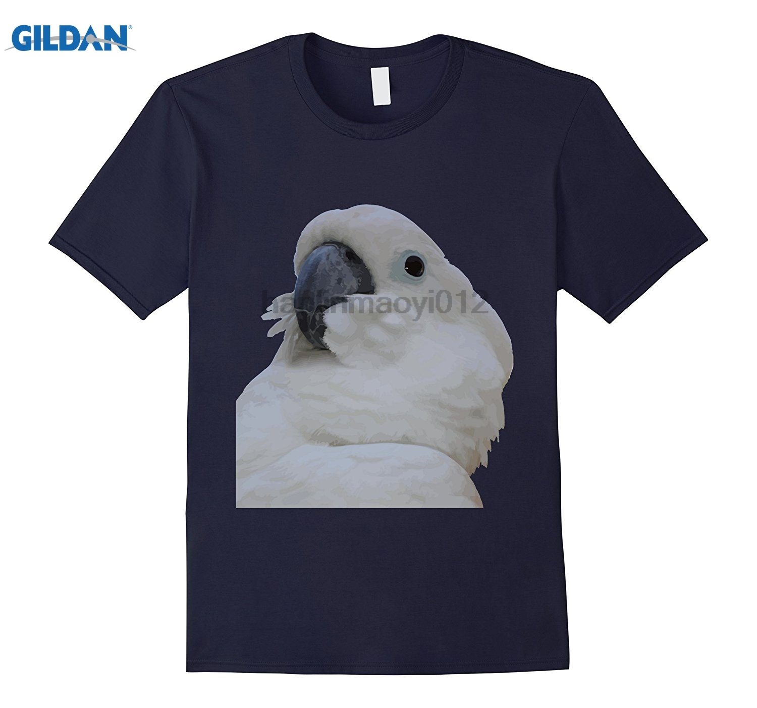 GILDAN Blue Eyed Cockatoo Vector T-Shirt Womens T-shirt