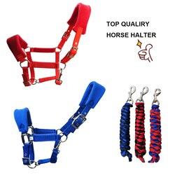 جودة عالية الحصان الرسن الحصان الفروسية اللجام الرائدة شيفال معدات ركوب الخيل سباق paardensport a