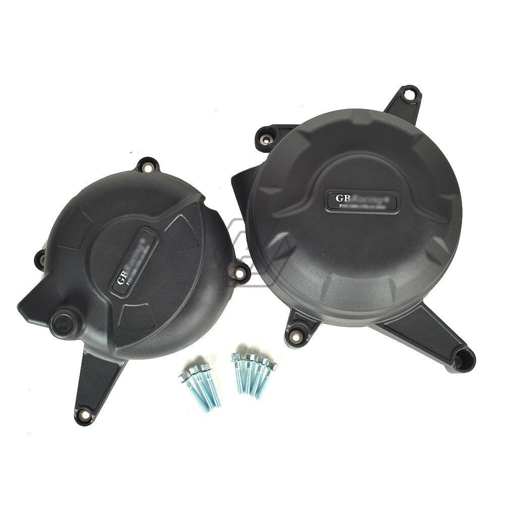 Kit d'outils de couverture de Protection de moteur secondaire de motos noires pour la course de GB pour DUCATI 899 2014-2015