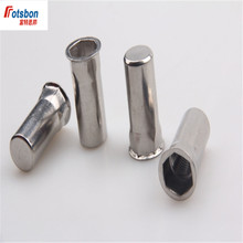 1000pcs M4/M5/M6/M8/M10/M12 Flat Round Head Half Hex Blind Rivet Nuts Stainless Steel Insert Riveting Factory Wholesale