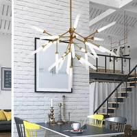Современный дизайн светодио дный светильник потолочный люстры Гостиная Спальня Обеденная светильники Блеск декора дома освещения G9 110 220 В