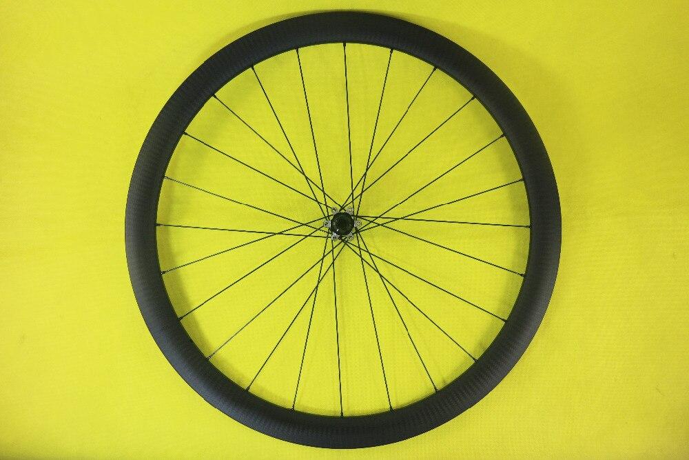 SPEEDSAFE light 42mm asymmetric disc road front carbon bike wheel 25mm width external clincher tubeless 700c