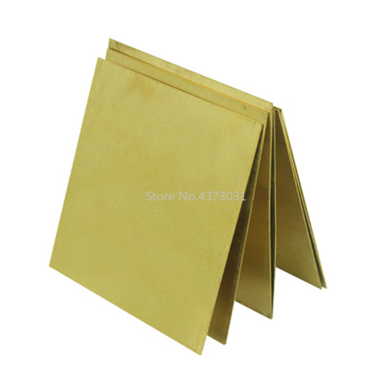 100*100mm Brass Copper Plate DIY Material For Industry Mould Or Metal Art Laser Cutting CNC Frame Model Mould DIY Contruction