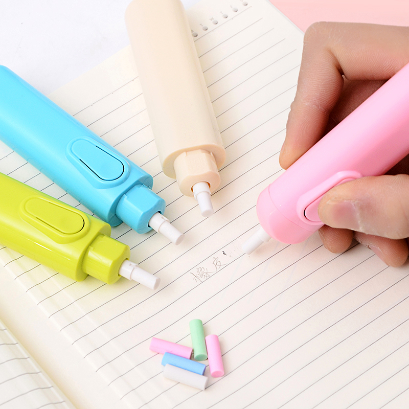 Creative Battery Electric Automatic Eraser For Writing Drawing Painting Student Pencil Erasers School Office Stationery Supplies