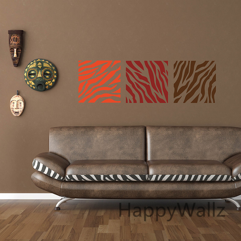 Zebra Stripe Wall Sticker Decorative Zebra Wall Decal DIY - Zebra stripe wall decals