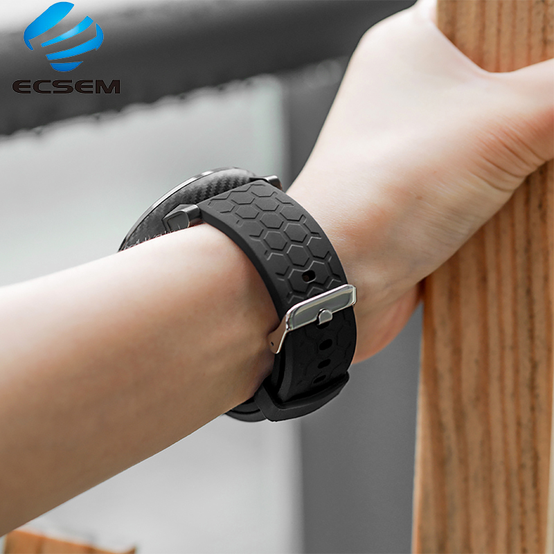 Band for Huami <font><b>AMAZFIT</b></font> GTR 47mm 42MM smart watch silicone strap GTR watch quick <font><b>fit</b></font> silicone texture strap 22MM 20MM image