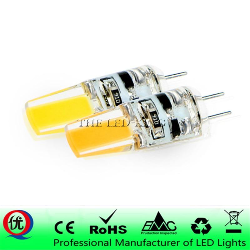 G4 a lâmpada led 12 v dc/ac 3w 6w 9w 12w g4 led bombilla luz de la super brillante g4 cob de silicona bombillas ampolla g9