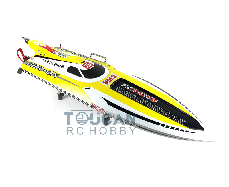 G30H ARTR 54 30CC Engine Gasoline Fiber Glass RC Racing Boat Rudder Propeller Yellow aluminum water cool flange fits 26 29cc qj zenoah rcmk cy gas engine for rc boat