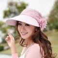 Verano Y Primavera Nuevo Casquillo del Recorrido Sol Sombrero Mujeres Dobladas Esencial UV Femenino