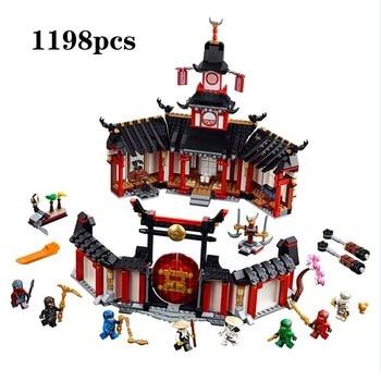 2019 new Hot sale compatible legolING 70670 1198PCS Ninja Monastery Of Spinjtzu Building Blocks Bricks Children's day gift