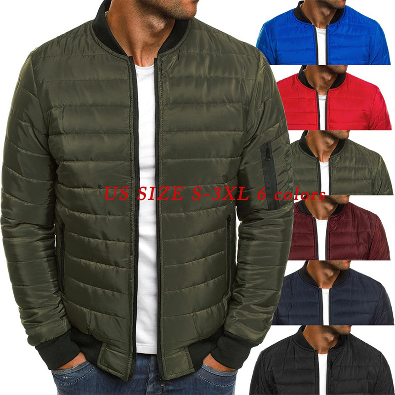 ZOGGA Mens Winter Coats 6 Colors Plus Size S-3XL Men Fashion Autumn Puffer Jacket Coat Cotton-padded Warm Clothes Men Parka