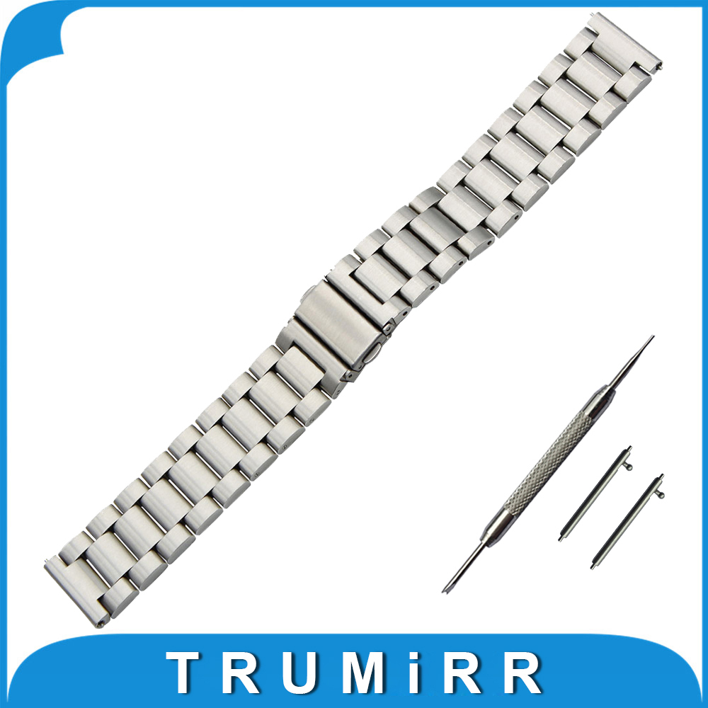 18mm 20mm 22mm Stainless Steel Watch Band + Quick Release Pins for Seiko Replacement Strap Wrist Belt Bracelet Black Gold Silver 18mm 20mm 22mm stainless steel watch band quick release pins for seiko replacement strap wrist belt bracelet black gold silver