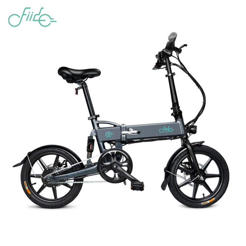 In stock FIIDO D2 Electric Bicycle Smart Folding Bike Electric Moped Pedal Bicycle 7 8Ah Battery