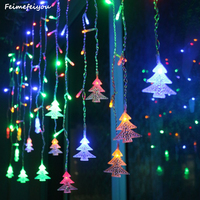 Feimefeiyou Garden Outdoor Decoration 3 5m 96 Leds 5m 216 Leds Curtain Icicle String Led Lights