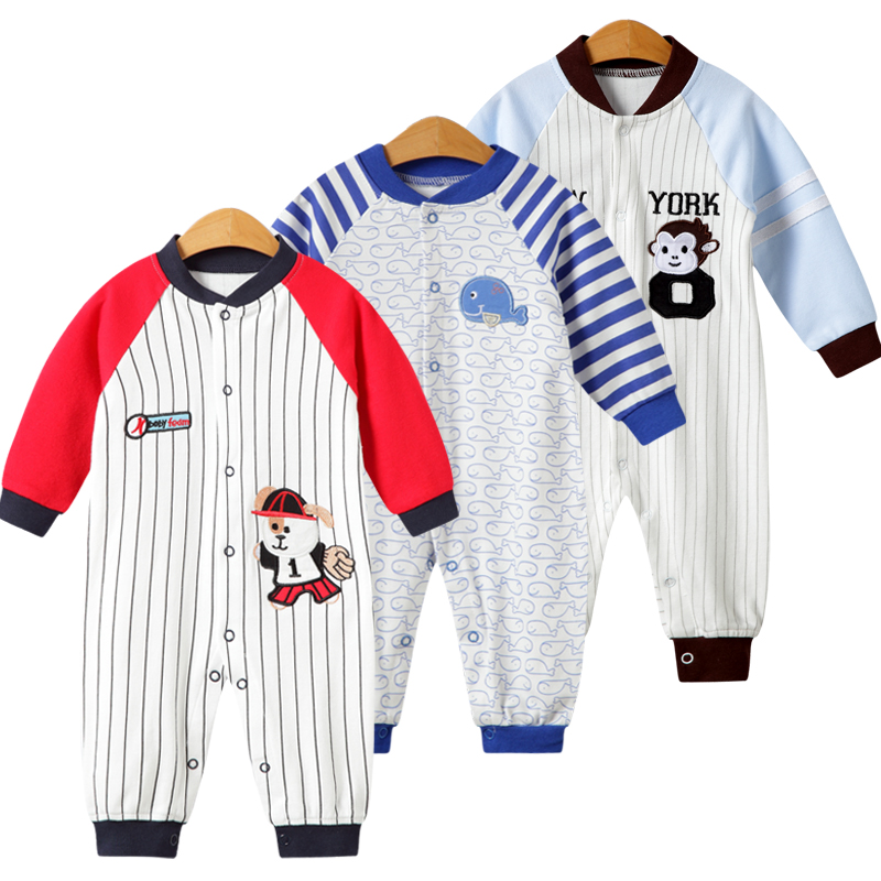 Outfits Jumpsuit Rompers Long-Sleeve Newborn Baby Baby-Boy Toddler Infant Cotton