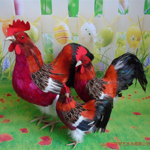 simulation cute colorful cock model polyethylene&furs chick model home decoration props ,model gift d540 gift n home