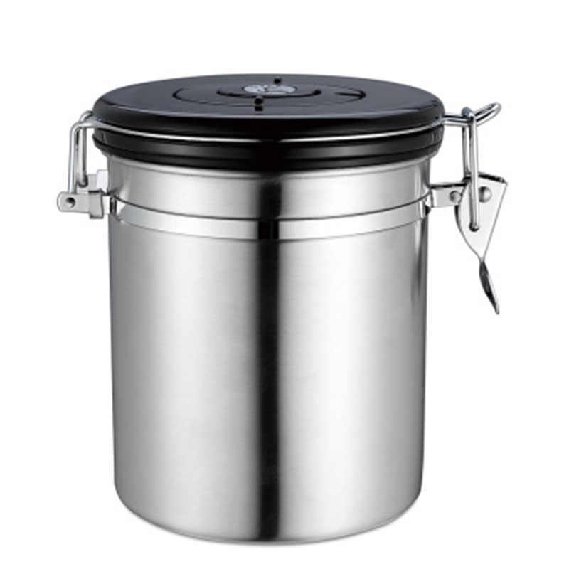 برطمان للحلوى مع العادم صمام علبة السكر القهوة الفول المطبخ مختومة يمكن فراغ جرة الغذاء الشاي تخزين الحاويات وعاء المنزل الجرار