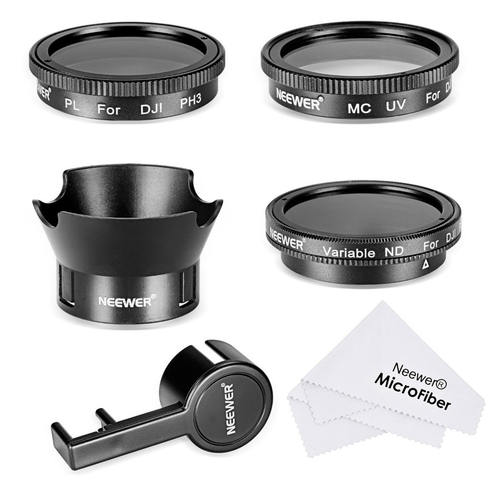 "Prix pour Neewer Filtre Kit pour DJI Phantom 3 4 K, UV Filter'CPL 'ND2-400 Filter' Rose Pétale Lentille Hood'Lens Cap Protecteur ""Nettoyer Tissu"